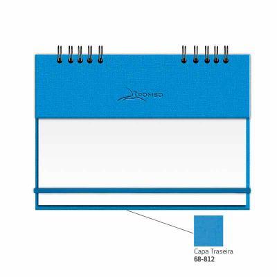 POMBO - RISQUE & RABISQUE MODELO 904 - CAPA AK DELHI - Capa com base em papel revestida em PVC (película plástica protetora). - Capa dianteira AK cor 700-azul...