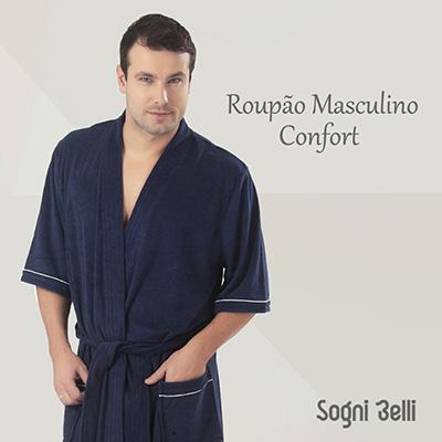 4de6af14d39d87 Roupão masculino algodão – Roupa de banho