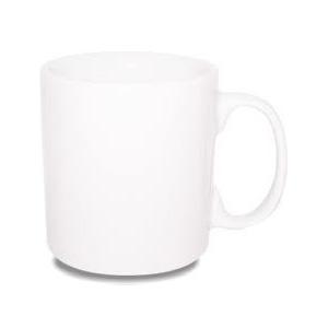 GTX Brindes - Caneca de porcelana 325 ml modelo reta, personalização em Sublimação.