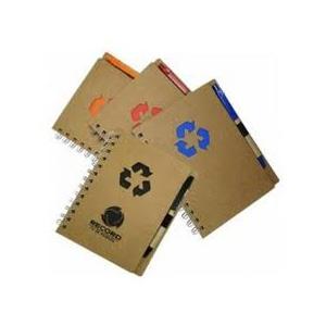 gtx-brindes - Bloco de anotações ecológico com caneta, 80 páginas.