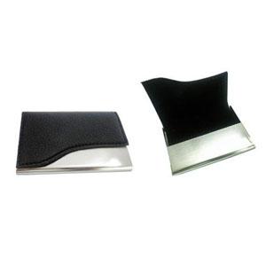 GTX Brindes - Porta cartão de couro e metal para brindes promocionais.