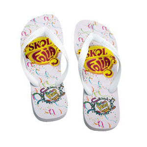 gtx-brindes - Sandálias e chinelos personalizados em diversas cores.