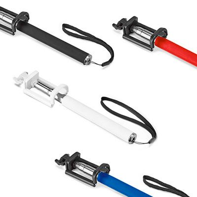 - Bastão de Selfie 97073 PVC e aço inox. Bastão extensível até 1040 mm. 45 x 215 x 30 mm