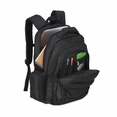 Mochila em nylon 1680D na cor preta;  01 Bolso grande com Compartimento acolchoado para notebo...