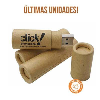 Click Promocional - Pendrive em papel, com tampa, 4 GB. Tamanho C: 6,4cm x A: 1,7cm