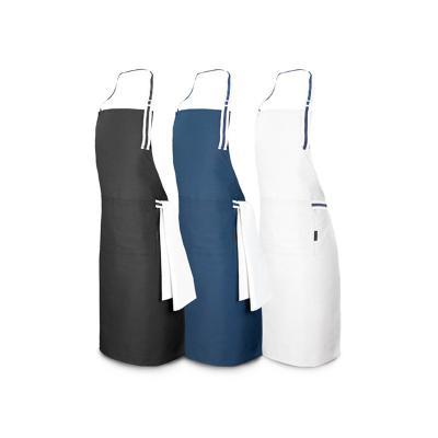 - Avental gastronômico personalizado produzido em algodão e poliéster 150 g/m² com alça ajustáveis, possui dois bolsos frontais de 17 x 18 cm cada. Idea...