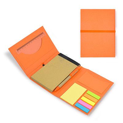 Maggenta  Produtos Promocionais - Bloco de anotações capa dura e elástico de fechamento. Gravação em Silk