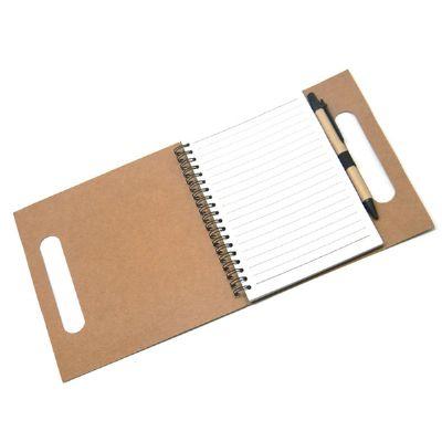 Maggenta  Produtos Promocionai... - Bloco de anotação ecológico com caneta