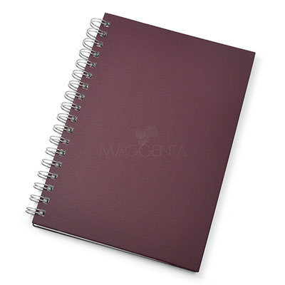 maggenta-produtos-promocionais - Caderno, possui folha para dados pessoais, calendário, planejamento, marca d'agua nas folhas e capa dura texturizada, tamanhos pequeno, médio e grande
