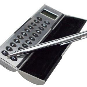 maggenta-produtos-promocionais - Calculadora personalizada com caneta.