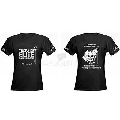 Maggenta  Produtos Promocionais - Camiseta em meia malha 100% algodão.