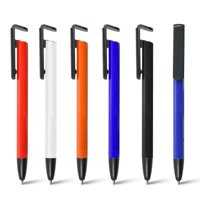 maggenta-produtos-promocionais - Caneta de Metal com Ponteira Touch e Porta Smartphone Personalizado. 1