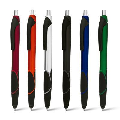 maggenta-produtos-promocionais - Caneta Plástica com Ponteira Touch Personalizada 1