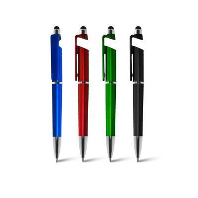 Caneta Plastica com Porta Celular e Ponteira Touch Personalizado 1