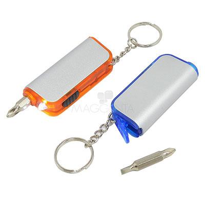 Maggenta  Produtos Promocionais - Chaveiro de pl�stico. Com LED e ferramenta. Inclui 4 pilhas. Cores dispon�veis: Azul e Laranja