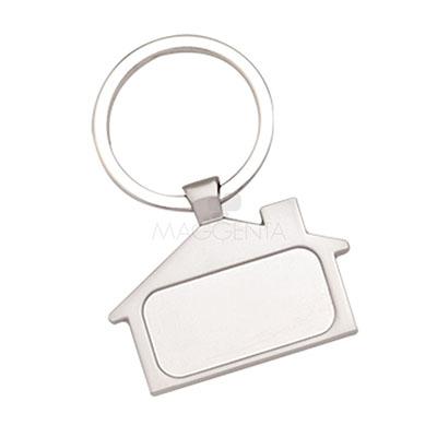 maggenta-produtos-promocionais - Chaveiro de metal, modelo casinha. Embalagem, saquinho plástico