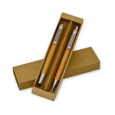Conjunto Caneta e Lapiseira em Bambú Promoconais 1
