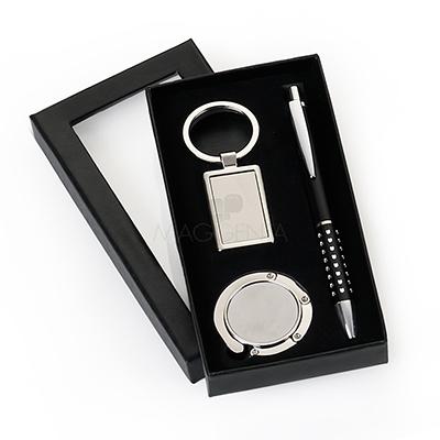 maggenta-produtos-promocionais - Conjunto com 3 peças para brindes personalizados.