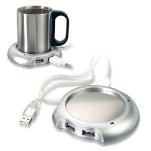Maggenta  Produtos Promocionais - Caneca térmica com 2 entradas USB