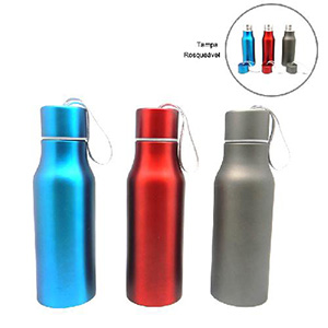 maggenta-produtos-promocionais - Garrafa Térmica com capacidade para 450 ml com tampa rosqueável. Gravação a laser.