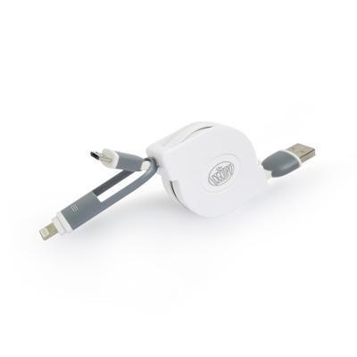 Hub USB 2 em 1 Retrátil Personalizado 1