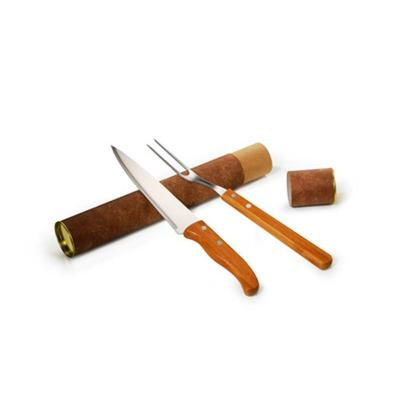 Maggenta  Produtos Promocionai... - Kit Churrasco Garfo e Faca Inox/ Bambu 1