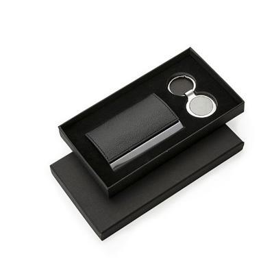 Kit Escritório Personalizado com Porta Cartão e Chaveiro de Metal 1