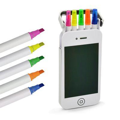 Maggenta  Produtos Promocionai... - Kit marca texto formato iPhone para brinde