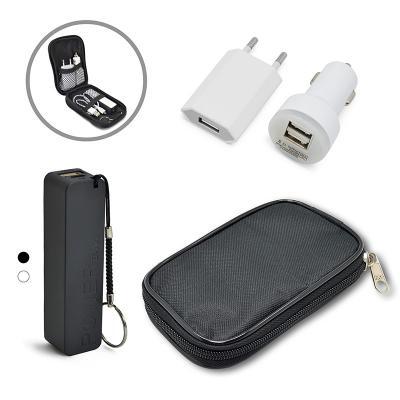 Maggenta  Produtos Promocionais - Kit Power Bank + Carregador para iPhone 5 1