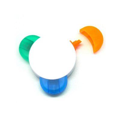 maggenta-produtos-promocionais - Caneta marca-texto 3 cores.