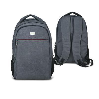 - Mochila para notebook personalizada em nylon sintético diferenciado, possui bolso frontal com cursor vermelho e zíper de metal, bolso interno com ampl...