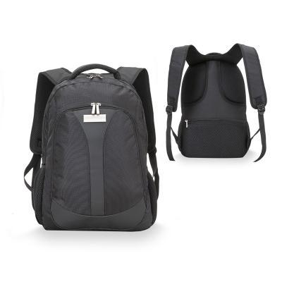 - Mochila para notebook personalizada produzida em nylon poliéster, possui 3 compartimentos separados com fechamento de zíper, bolso interno para notebo...