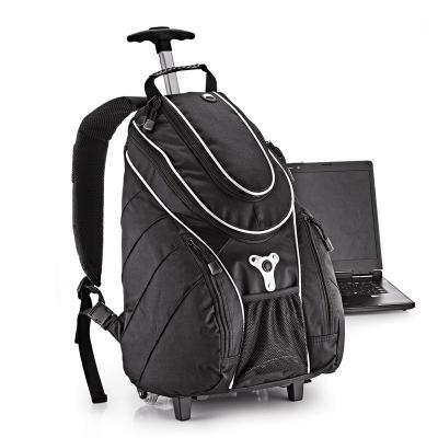 """- Mochila personalizada em Polyester 300D. Conta com compartimento interno para Notebook 15"""", alças retrátil em alumínio com dois estágios e altura máxi..."""