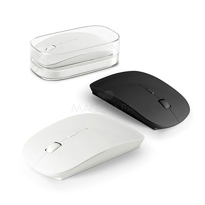 Maggenta  Produtos Promocionais - Mouse sem fio personalizado na cor rosa.