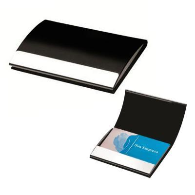 maggenta-produtos-promocionais - Porta Cartão Alumínio e Couro Sintético 1