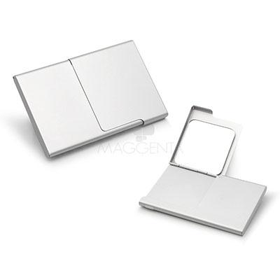 maggenta-produtos-promocionais - Porta cartão customizado em Alumínio.