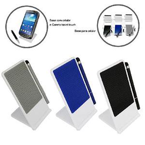 maggenta-produtos-promocionais - Porta celular mais caneta para tablet, material de plástico