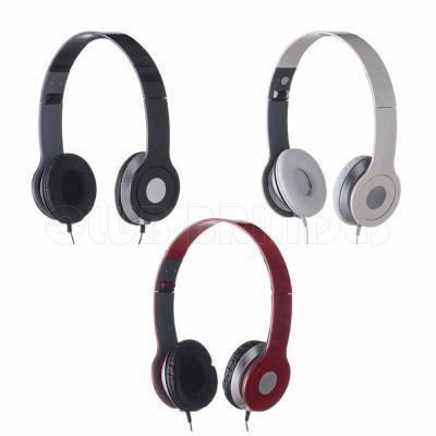 Fone de ouvido estéreo articulável, protetor em couro sintético com espuma e material plástico in...