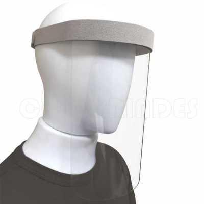 Máscara de Proteção Facial em Plástico