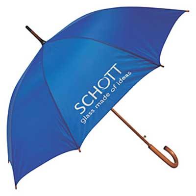 Guarda-chuva personalizado, cabo de madeira . Várias cores - 120 cm de diâmetro