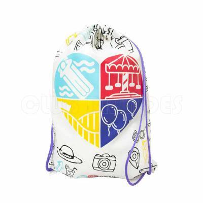 Club Brindes - Sacola mochila com alça dupla de ombro em cordão. Disponível em várias cores. Gravação da Logomarca em 1 Cor já inclusa.  Tamanho: 40 cm X 30 cm.  Rev...