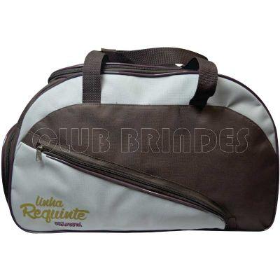club-brindes - Bolsa de viagem personalizada com bolso lateral