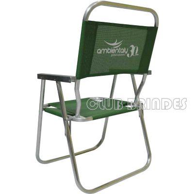 Cadeira de praia de alumínio modelo alta
