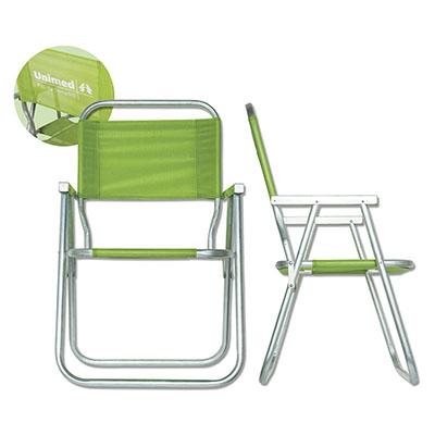 Cadeira de Praia de Alumínio, modelo alta, diversas cores.