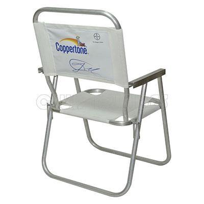 Cadeira de Praia de Alumínio, disponível em várias cores, modelo alta