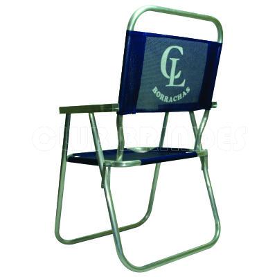 Cadeira de praia alta feita em alumínio. - Club Brindes