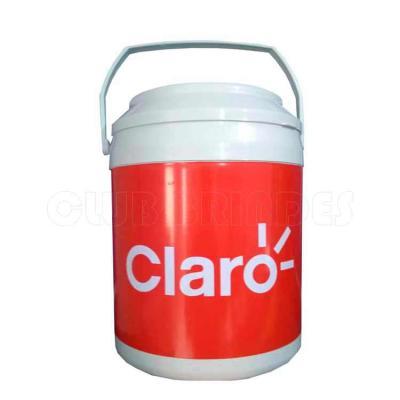 Cooler promocional com capacidade para 16 latas, com alça fixa e isolante térmico. Disponível em ...
