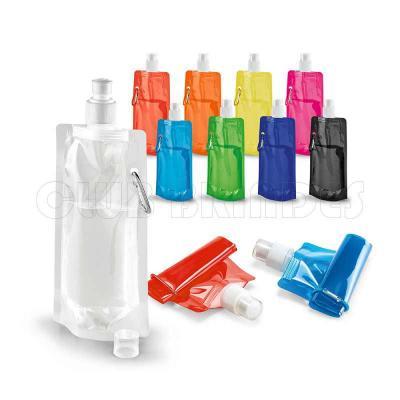 Squeeze dobrável. PE. Capacidade até 460 ml. Acabamento translúcido. Disponível em várias cores. ...