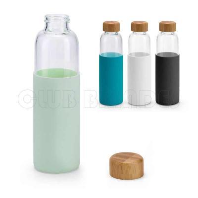 Squeeze. Vidro borossilicato. Com tampa em bambu e revestida com luva em silicone. Capacidade: 60...