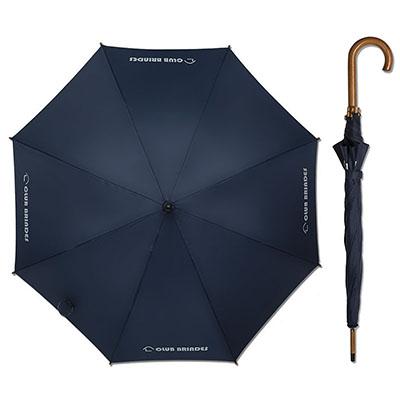 club-brindes - Guarda-chuva Colonial, acionamento automático, cabo de madeira, cores variadas a sua escolha